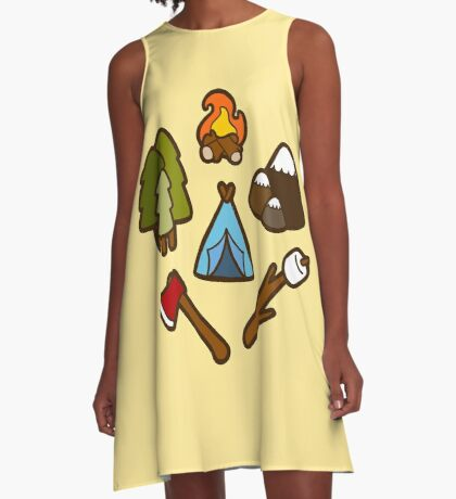 Camping is cool A-Line Dress