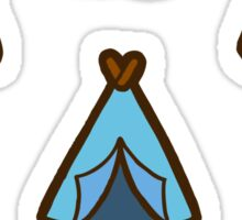 Camping is cool Sticker
