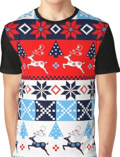 Festive Nordic Holidays Patterns Graphic T-Shirt