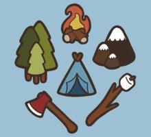 Camping is cool Kids Tee