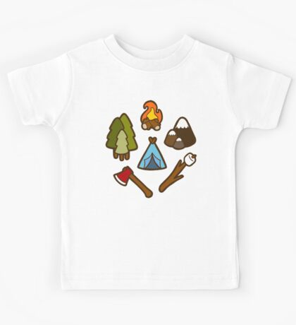 Camping is cool Kids Tee