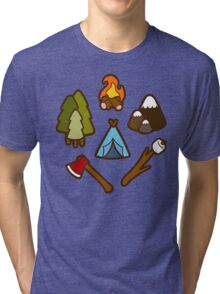Camping is cool Tri-blend T-Shirt