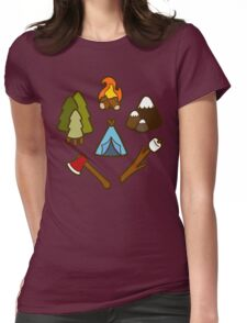 Camping is cool Womens Fitted T-Shirt