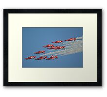 Red Arrows Roll Framed Print