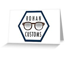 Rohan Customs Logo Greeting Card