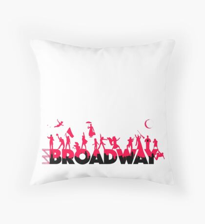 A Celebration of Broadway Throw Pillow