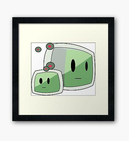 Minecraft Slime Framed Print