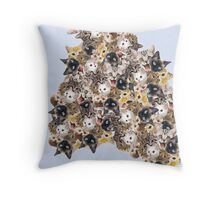 When I close my eyes, I see kittens. EVERYWHERE! Throw Pillow