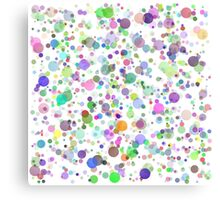 Colorful Round Blots Background Canvas Print