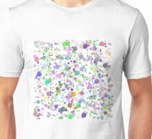 Colorful Round Blots Background Unisex T-Shirt