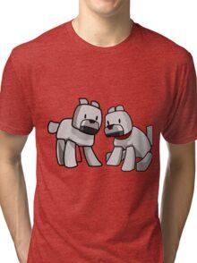 Minecraft Wolf / Minecraft Dogs Tri-blend T-Shirt