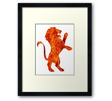 Lion fire (Gryffindor) Framed Print