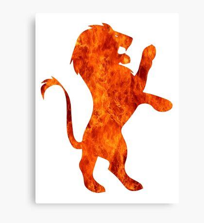 Lion fire (Gryffindor) Canvas Print