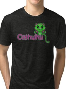 Cathulhu (Lovecraft Loves Cats!) Tri-blend T-Shirt