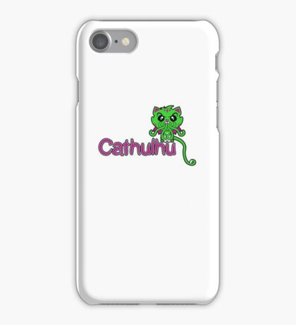 Cathulhu (Lovecraft Loves Cats!) iPhone Case/Skin