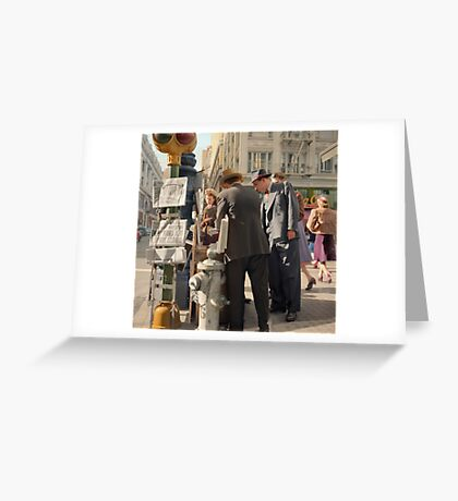 Morning after Pearl Harbor, San Francisco. Greeting Card