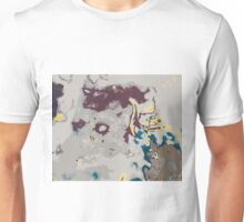 green yellow brown and grey abstract Unisex T-Shirt