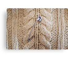 Cable Knit Safety Pin Canvas Print