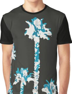 blue and white palm tree Graphic T-Shirt
