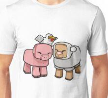 Minecraft Animals - Minecraft Chicken, Minecraft Pig, and Minecraft Sheep Unisex T-Shirt