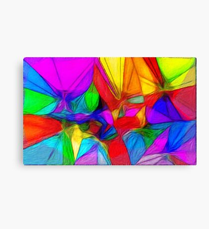The Coloured Glass Sheet Canvas Print