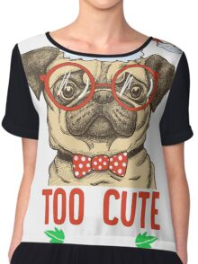 I Am Too cute for Santa Claus' Naughty list Christmas Chiffon Top