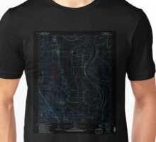 USGS TOPO Map Arkansas AR Woodson 259913 1987 24000 Inverted Unisex T-Shirt