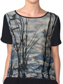 Freezing Water Droplets Chiffon Top