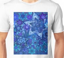Star of David Hanukkah Night Sky 2 Unisex T-Shirt
