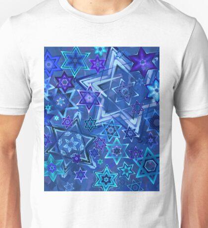 Star of David Hanukkah Night Sky 2 Unisex T-Shirt