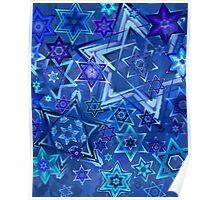 Star of David Hanukkah Night Sky 2 Poster