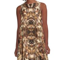 Rusted wavy wire over fall leaves - 2016 A-Line Dress