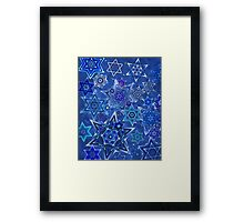 Star of David Hanukkah Night Sky 1 Framed Print