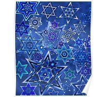 Star of David Hanukkah Night Sky 1 Poster