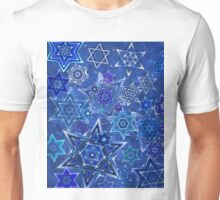 Star of David Hanukkah Night Sky 1 Unisex T-Shirt