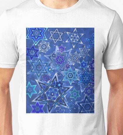 Star of David Hanukkah Night Sky 1 Unisex T-Shirt