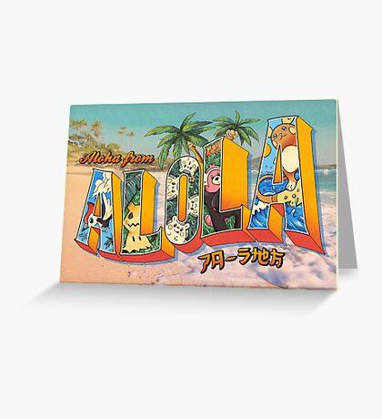 Aloha from Alola Greeting Card