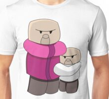 Minecraft Villagers Chibi Funny Unisex T-Shirt