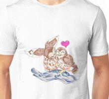 Lovely Love Owls Unisex T-Shirt