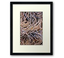 Cut metal wires - 2016 Framed Print