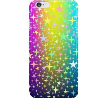 Colorful Star Rain on Glowing Background iPhone Case/Skin