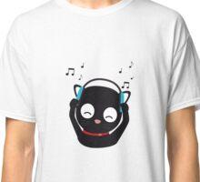Music Cat with headphones Classic T-Shirt