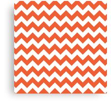Orange retro Chevron pattern Canvas Print