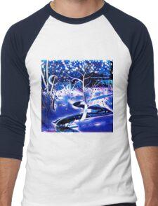 Snowy, Snowy Night Men's Baseball ¾ T-Shirt