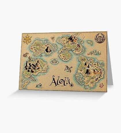 Alola Map Greeting Card