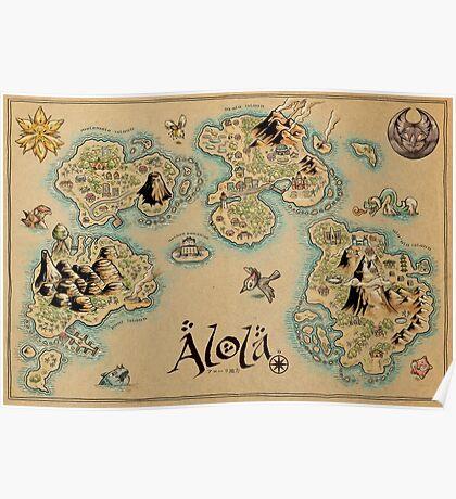 Alola Map Poster