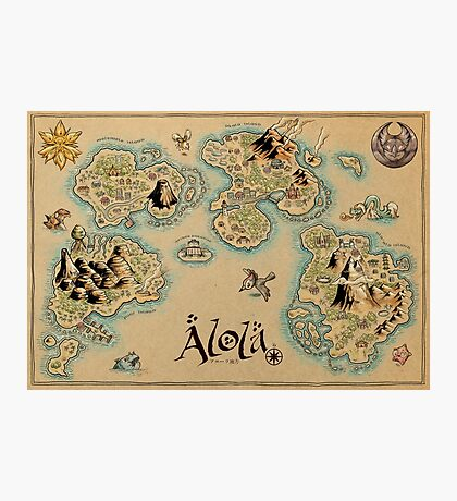 Alola Map Photographic Print