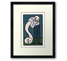 Please don't lose my head Framed Print