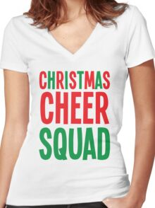 Christmas Cheer Squad Women's Fitted V-Neck T-Shirt