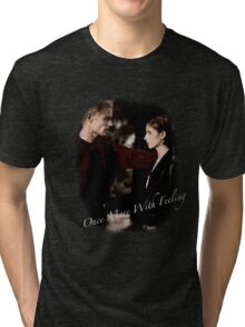 Spike And Buffy - Once More With Feeling Tri-blend T-Shirt